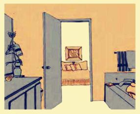 ⒁卧室的门不能正对厨房