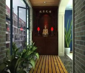 家居住宅风水中阳台摆放神位的讲究!