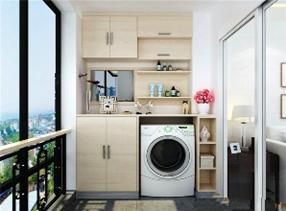 家居住宅的阳台适合放洗衣机吗?