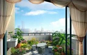 阳台外犯煞可以用植物来化解!